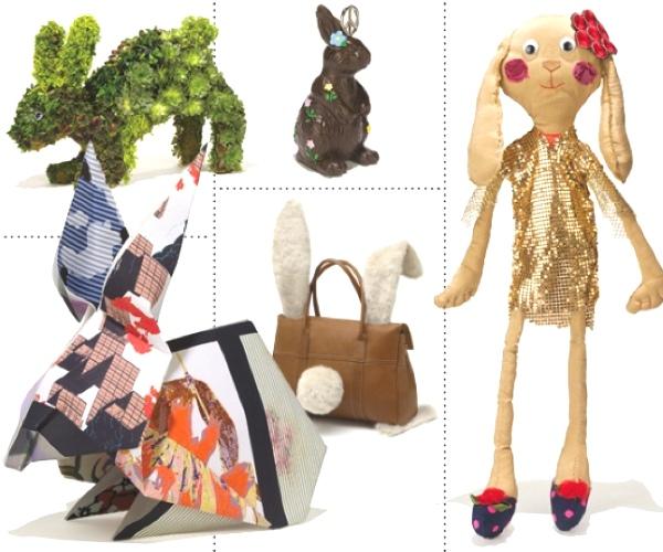 bunny fashion collage