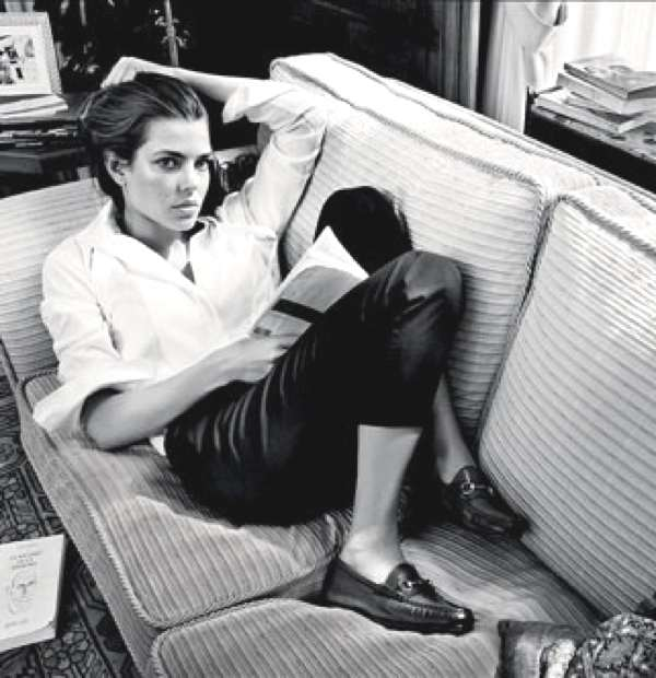 charlotte_casiraghi_Spring Perfect- Retro Chic Gucci Loafers