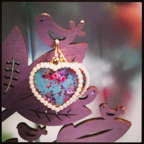heart earring Bizoux Brigittejpg