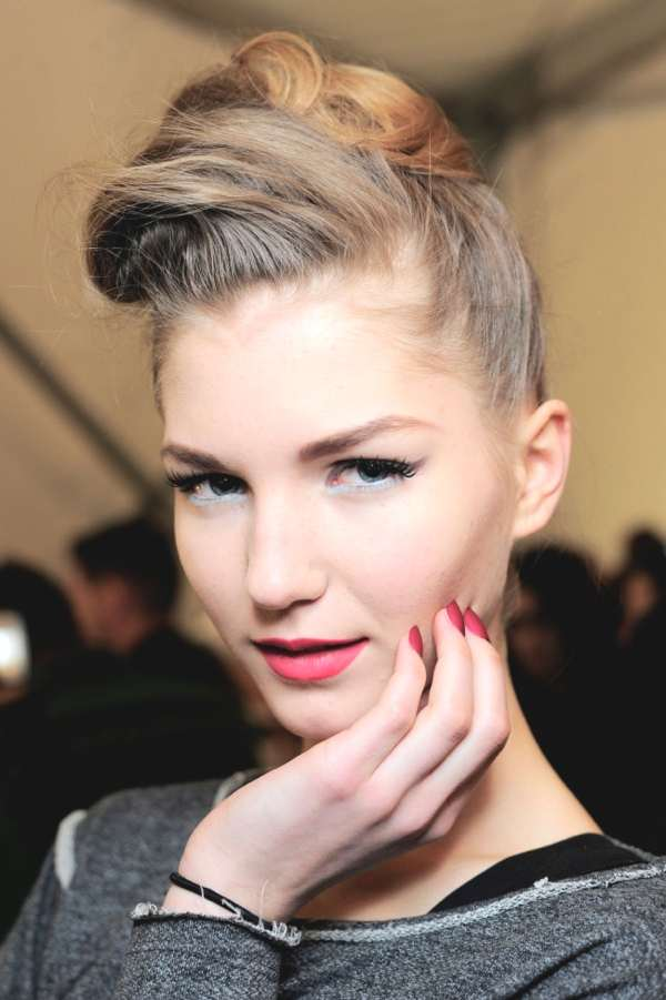 updo with a modern edge at Badgley Mischka