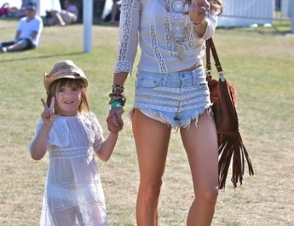 Alessandra Ambrosio brought her daughter, Anja, to watch The Lumineers perform at Coachella.
