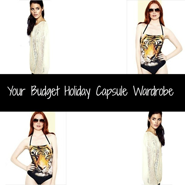 Collage Your Budget Holiday Capsule Wardrobe Collage