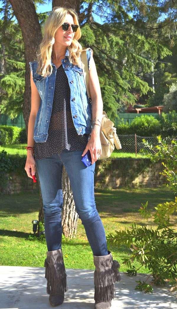 Dania's rock chic- balenciaga