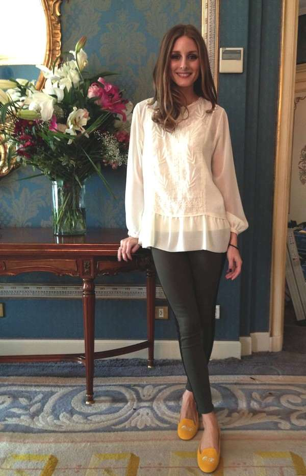 Olivia Palermo Madrid wearing a Zara top with jeans by Hudson, and my shoes are personalized from SchoShoes Milano.