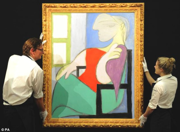 Picasso's Femme Assise Pres d'une Fenetre (Woman Sitting Near a Window) sold for £28,601,250 at Sotheby's, London
