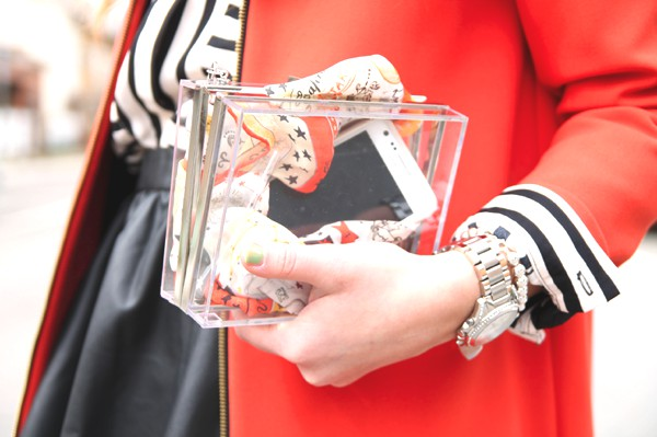 clear Zara clutch