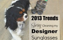 Spring Cleaning my Designer Sunglasses with Oliver