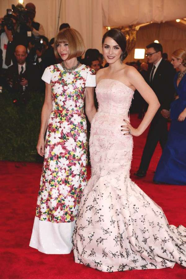 Anna Wintour and Bee Shaffer - Met Ball 2013