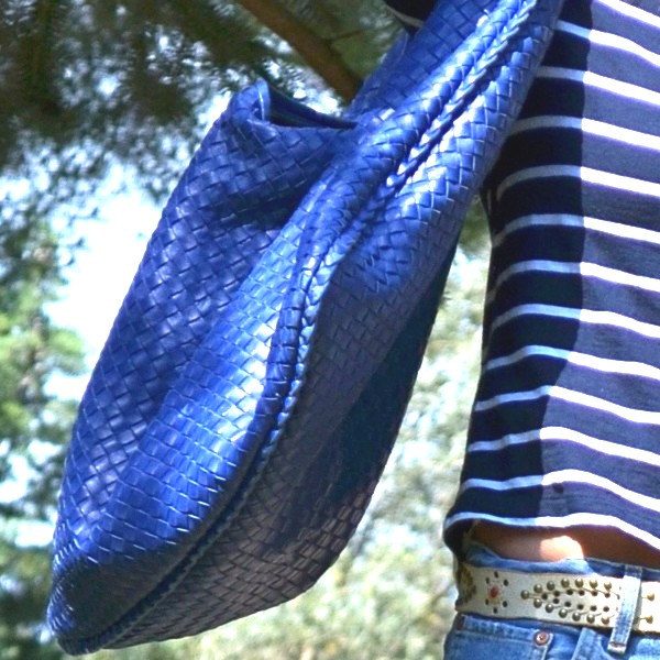 Bottega Veneta blue bag