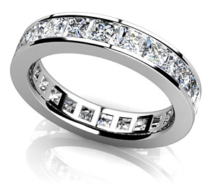 Channel Set Princess Diamond Eternity Band. You can find here