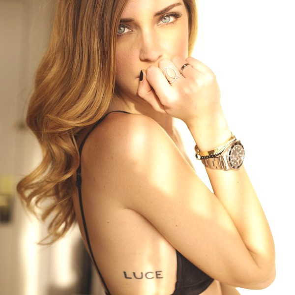 Chiara Ferragni's Rolex watch and cartier bracelets