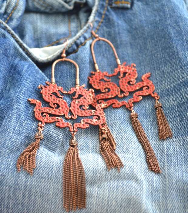 Dragons and denim Boyfriend bermuda Shorts necklace-0005