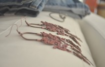 New in Closet- Dragon Earrings and denim Boyfriend bermuda Shorts