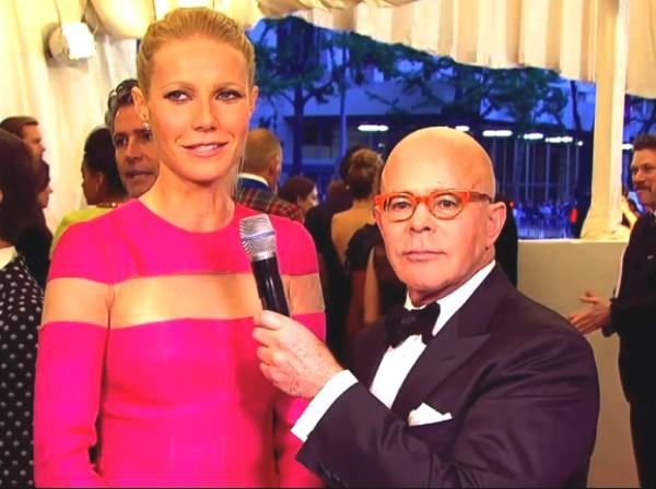 Gwyneth Paltrow in a Valentino pink dress