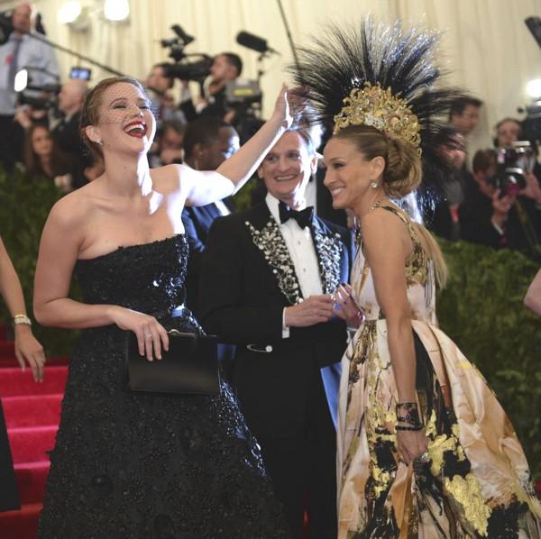 Jennifer Lawrence & Sarah Jessica Parker - Met Ball 2013