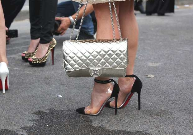 Chanel Metallic Silver bag