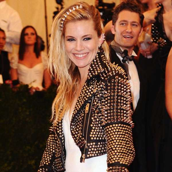 Sienna Miller Hair and Makeup at the Met Ball