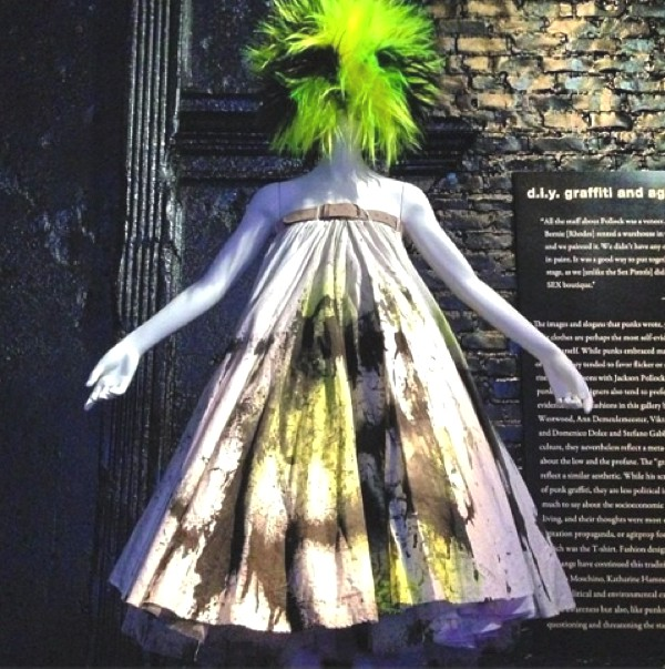 Spray-painted dress by McQueen