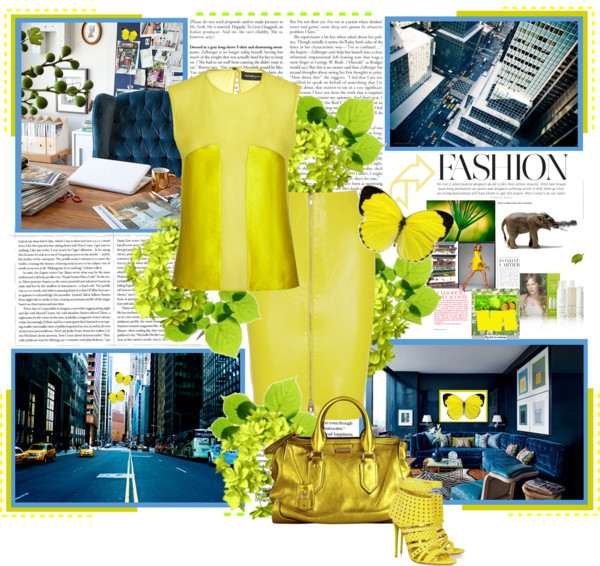 Spring in the City- Total Yellow by Icelle