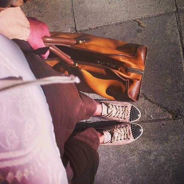 Street Style Miu Miu Sneakers Loewe bag