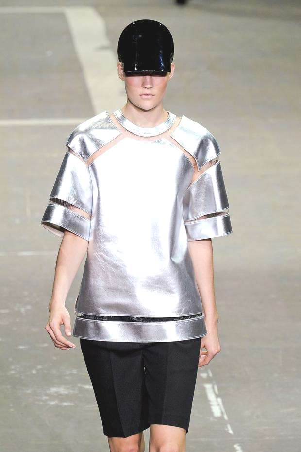 Sporty metallic top by Alexander Wang 2013