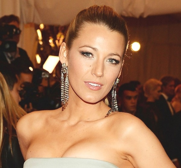 Blake Lively wearing edgy chic earrings