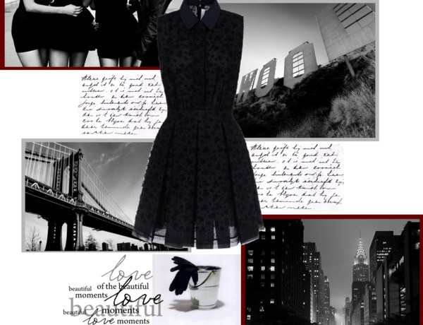 Icelle Little Black dress collage