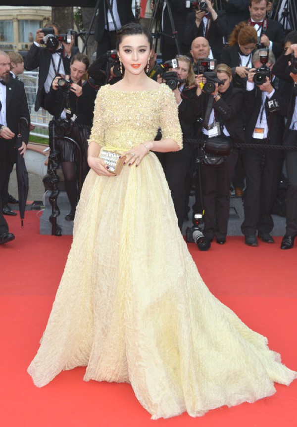 Fan Bing Bing is wearing  an Elie Saab gown
