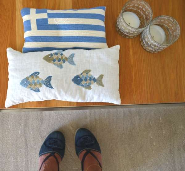 Greek flag cushionjpg