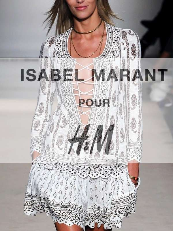 Isabel Marant for H&M featuring Lou Doillon in trousers £, peasant blouse £, boots £ So to the collection itself, which incorporates Marant's ethnic-meets-rock-chick design ethos and features her now infamous classics – cropped jackets, oversized knits, .