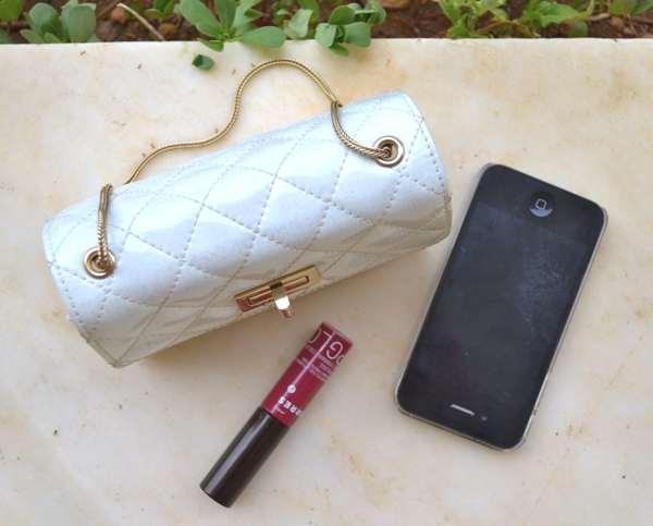 Chanel bag, Korres lip gloss