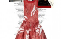 The Little Red Dress inspired by Anish Kapoor