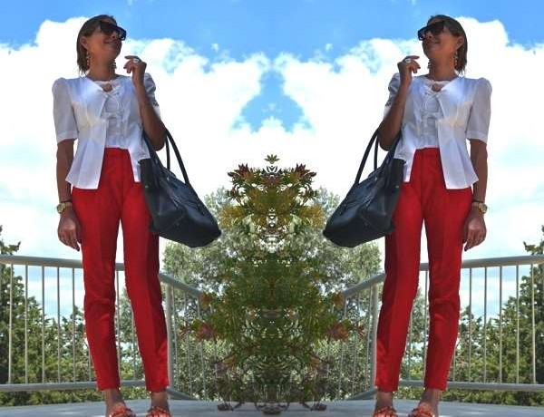 Twins red pants