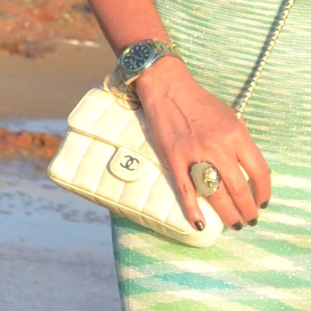 Missoni Knit Dress - Chanel Bag- Kessaris Ring- Rolex Milgauss