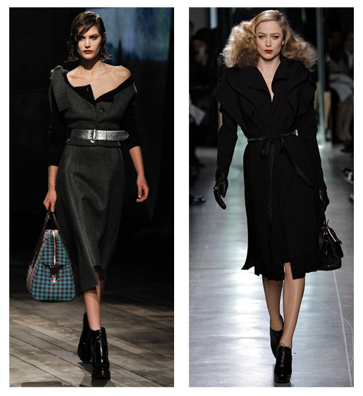 1940s style Prada and Bottega Veneta