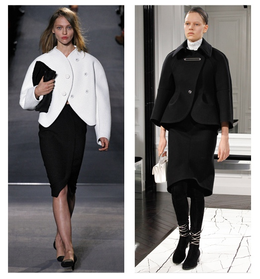 Oversized shoulders Proenza Schouler and Balenciaga