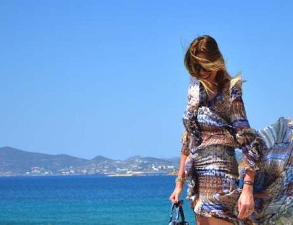 Paros Naousa- Summer Mind Blowing Asymmetrical Dress