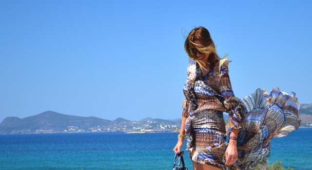 Paros Naousa- Summer Mind Blowing Asymmetrical Dress