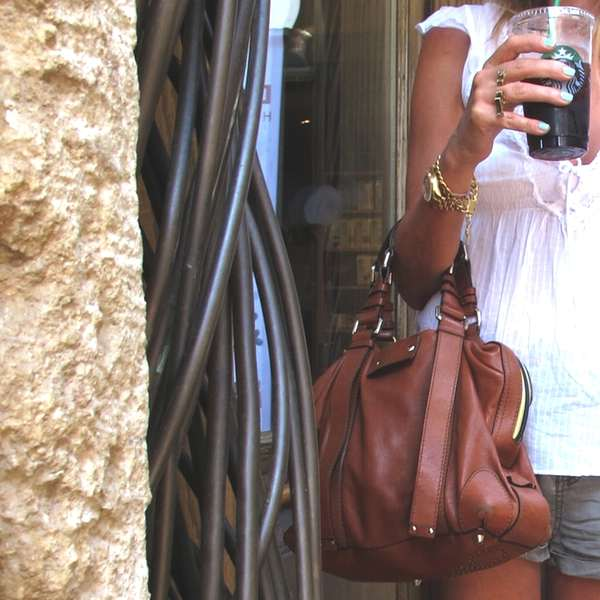 Chloe bag, Abercrombie blouse and All Saints shorts