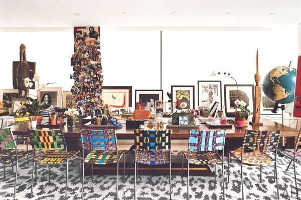 Diane Von Furstenberg's dinning room