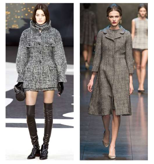 Tweed Chanel and Dolce & Gabbana