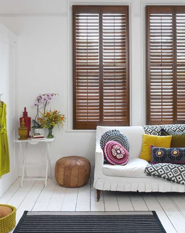 wooden shutters shabby chic home