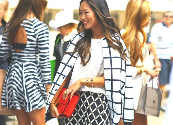 Aimee Song looking chic at NYFW