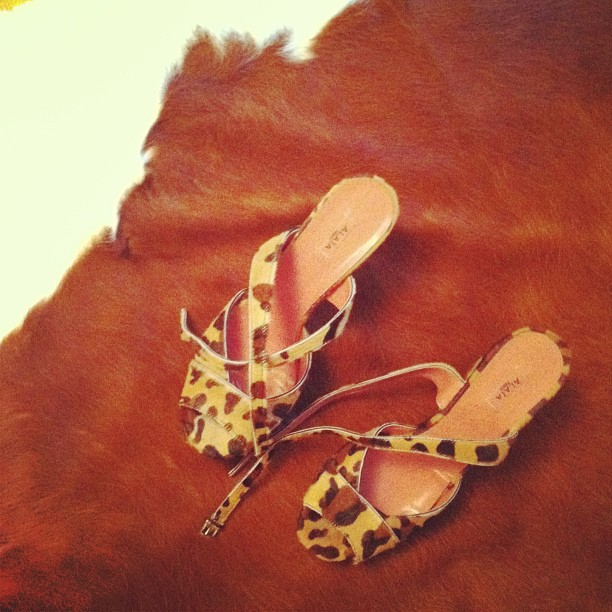 Alaia Leopard shoes