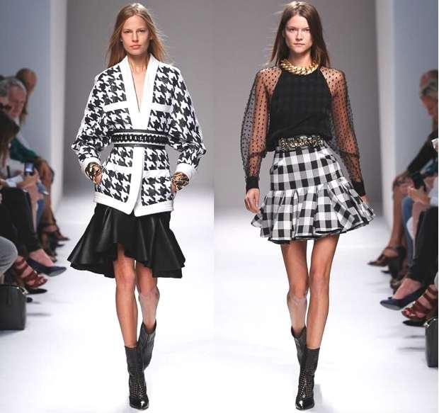 Balmain 2014, ruffle skirt