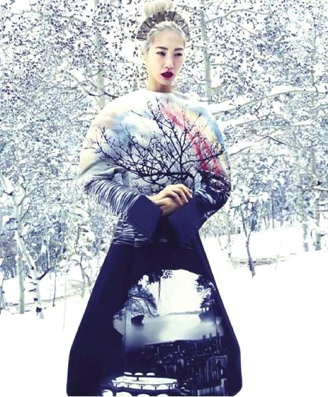 Beautiful Winter Wonderland editorial from Harper's Bazaar of the Caven Coat from our AW13 collection !