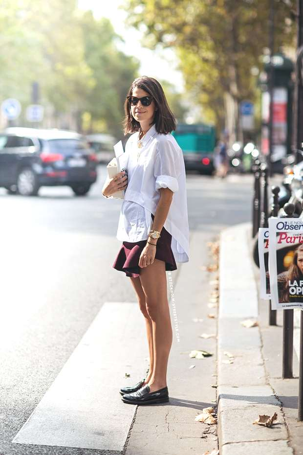 Street Style- How to Wear The Ruffle Mini Skirt- The man repeller