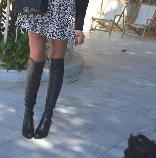 TrendSurvivor- Raffle mini skirt and over the knee boots-Top Trends for Fall