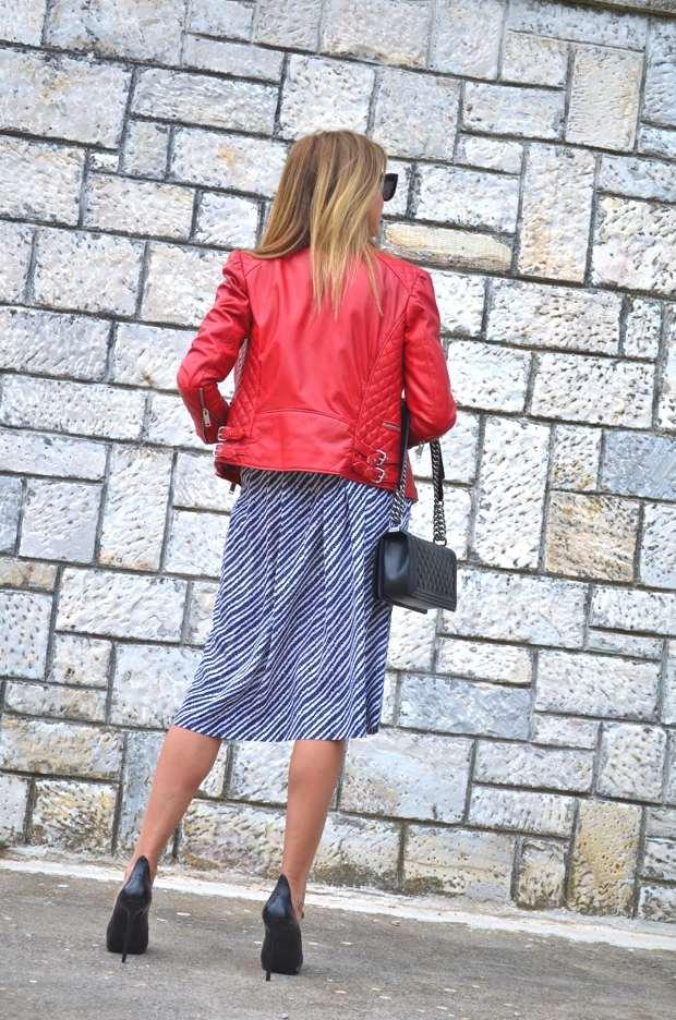 Trendsurvivor Vintage Dress Chanel Red biker jacket17