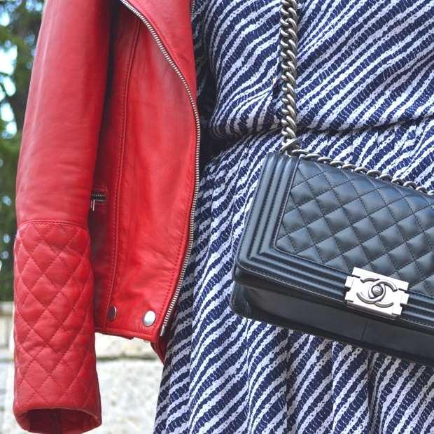 Trendsurvivor Vintage Dress Chanel Red biker jacket31